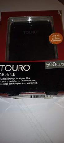 Dysk zewnętrzny Hitachi HDD 500 GB Czarny (HTOLMU3EA5001ABB)