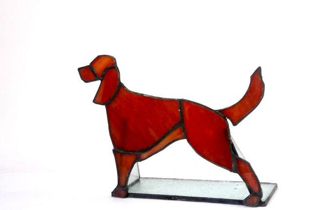 Pies Seter Irlandzki szkocki wyżeł Rottweiler Witraż Rękodzieło