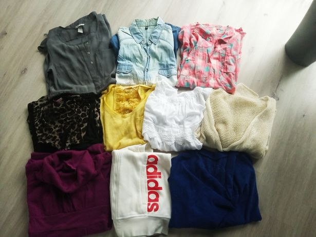 Paka ubrań zestaw ubrania jesień zima damskie L adidas h&m