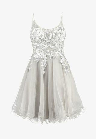 sukienka balowa MASCARA S szara nowa outlet