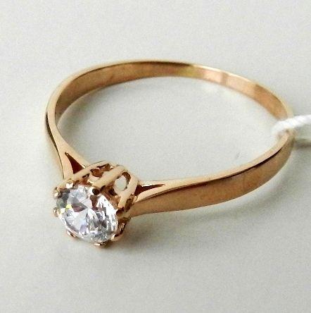 Золотое кольцо с фианитами 585 проба! Арт 292