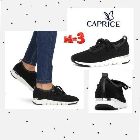 caprice кроссовки текстиль кожа