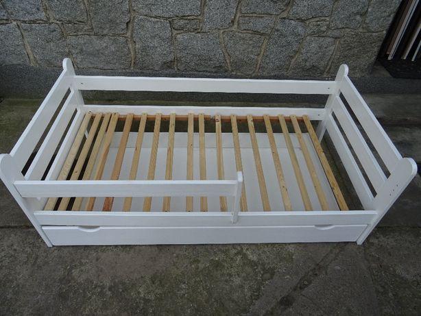 Łóżko łóżeczko dziecięce białe 160x70