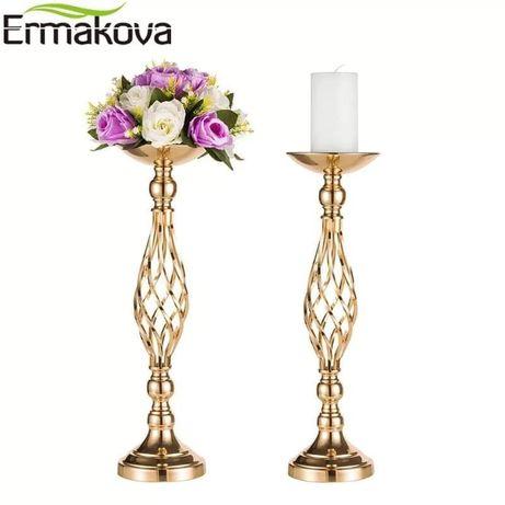 Złoty stojak na kwiaty