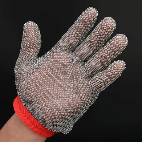 Перчатка кольчужная защитная из нержавеющих колец 304L (новая)