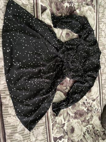Платье с доинным руковом