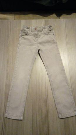 Spodnie jeansowe szare roz.122