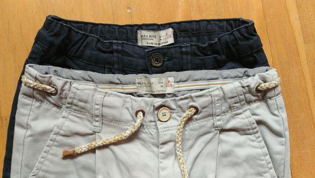 Spodnie Zara r. 128 - 2 pary
