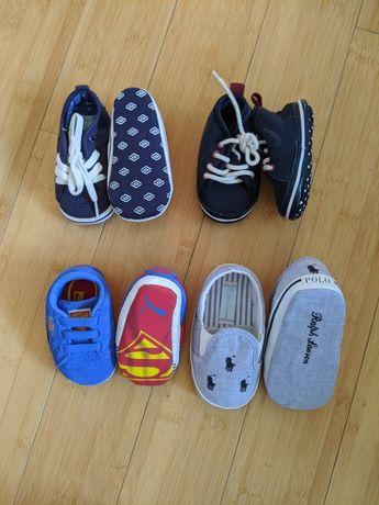 4 pary bucików dla noworodków i niechodzacych niemowląt