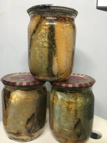Скумбрия с красной рыбой (консерва)