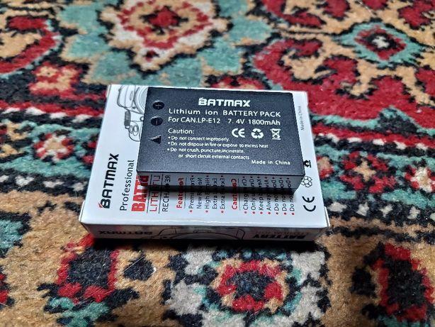 Аккумулятор батарея Batmax LP-E12 7.4V (для фото видео техники Canon)
