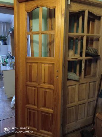 Drzwi drewniane sosnowe + ościeżnica