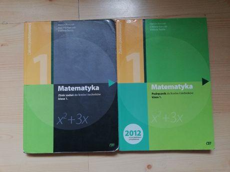 Zbiór zadań+ podręcznik z matematyki 1