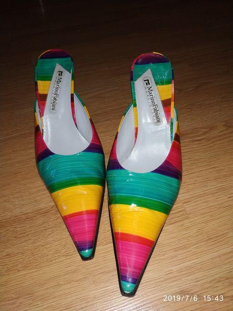 Продаются итальянские лаковые кожаные туфли Marino Fabiani р.40