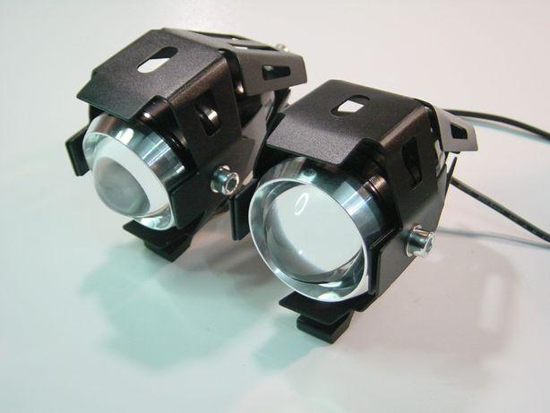 Faróis auxiliares LED com máximo, médio e strobe