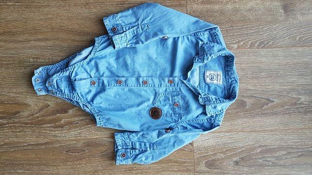 Eleganckie body jeansowe Smyk 86