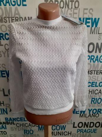 Ажурный джемпер блуза с майкой 2 в 1 Зиронька 158 размер на 11-13 лет