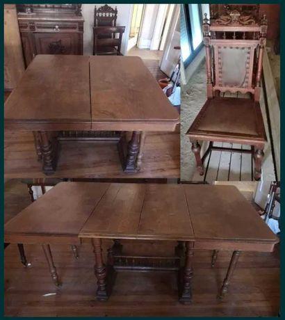 Mesa extensível madeira