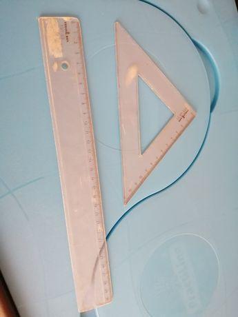 Régua e esquadro Molin 30cm e 13cm