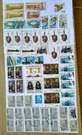 Почтовые марки (гашеные) Армении, России и СССР