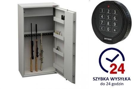 OD RĘKI szafa na broń , sejf S1 , 14 luf, KONSMETAL zam. elektroniczny