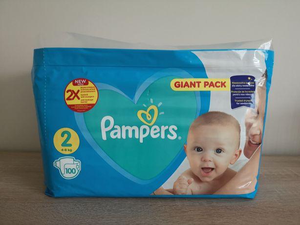Pieluchy PAMPERS 2. 100 szt, 4-8 kg,