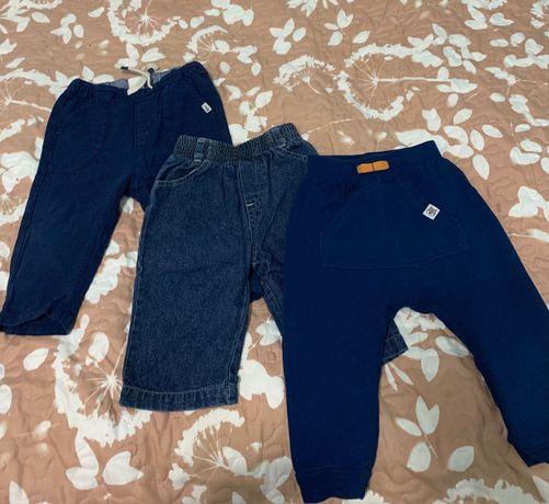 Spodnie niemowlęce 3szt 74-80