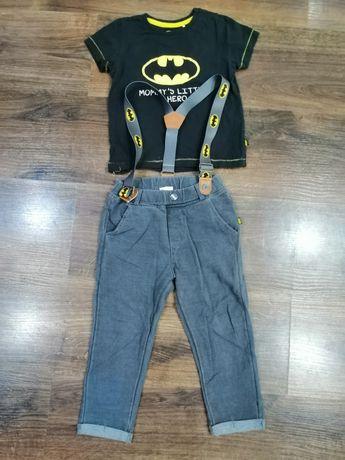 Zestaw batman cool club 86. Spodnie na szelkach. Koszulka