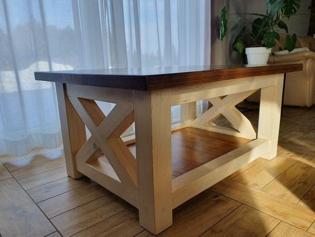 Stolik kawowy drewniany stół ława