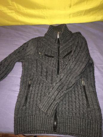 Теплый свитер, джемпер зип