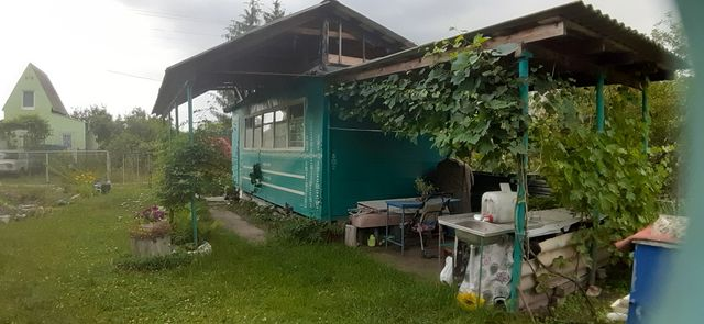 Воронино дачный участок с жилым вагончиком