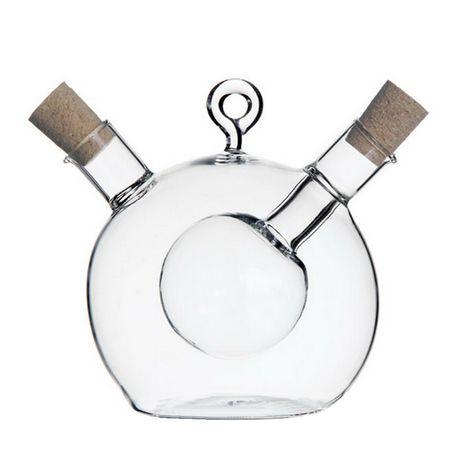Декоративная стеклянная емкость для масла и уксуса 250мл+150мл