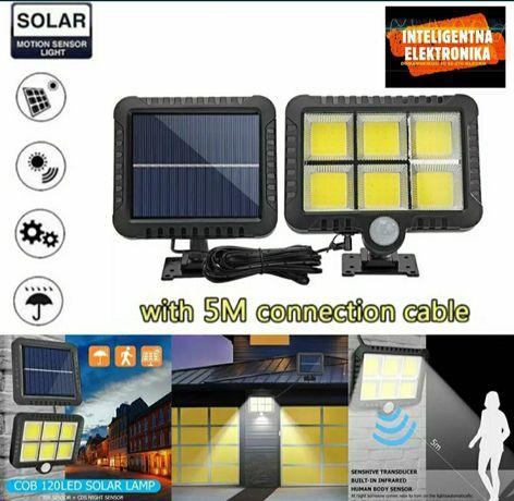 Lampa z panelem solarnyn Cob