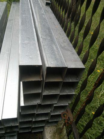 Słupek ogrodzeniowy bramowy 100x100x2mm lub 3mm. L=230cm Ocynk nowe