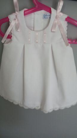 Sukienka chrzest, biała, rozmiar 74, 12mies