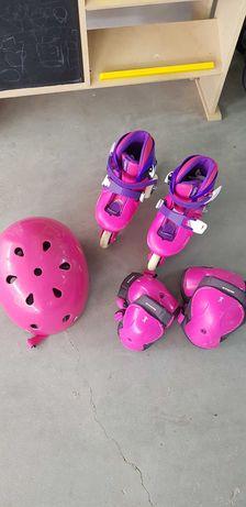 Patins 3 rodas rosa