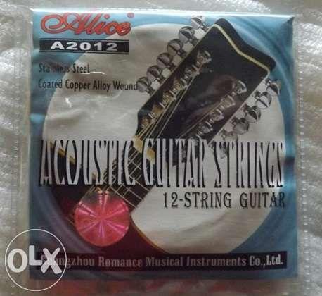 Jogo de cordas de guitarra de 12 cordas