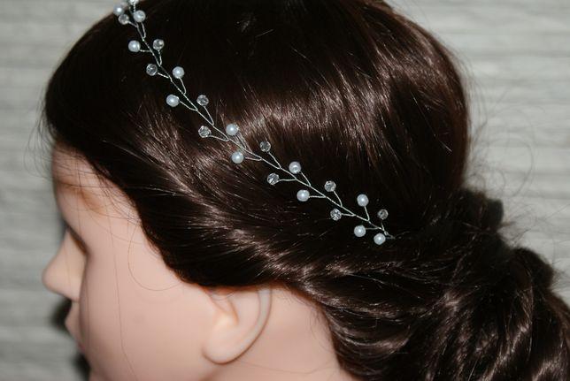 wianek ślubny ozdoba do włosów opaska ślubna biżuteryjna