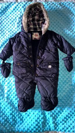 Kombinezon zima jesień niemowlęcy dla chłopca debenhams 3-6 mcy 68