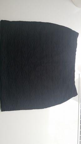 Spódnica mini czarna tekstura, S