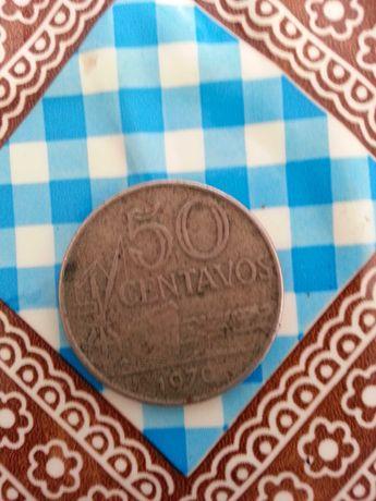 Vendo moeda de 50 centavos do brazil de 1970