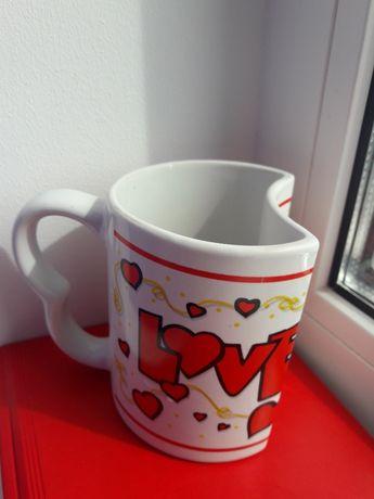 "Чашка ""Love"" любовь, белая / подарок кружка на подарунок любов кохання"