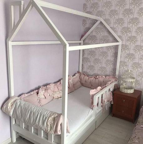 Ліжко будиночок дитяче з вільхи 140х70см.Кровать домик.Будинок