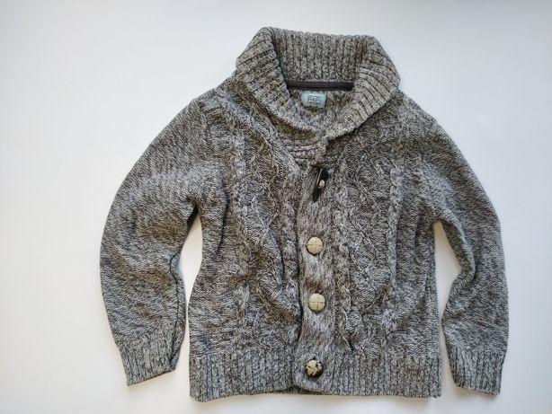 F&F elegancki sweter sweterek Kardigan melanż Vintage  92cm