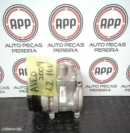 Compressor ar condicionado Chevrolet Aveo de 2009 1.2 16V.