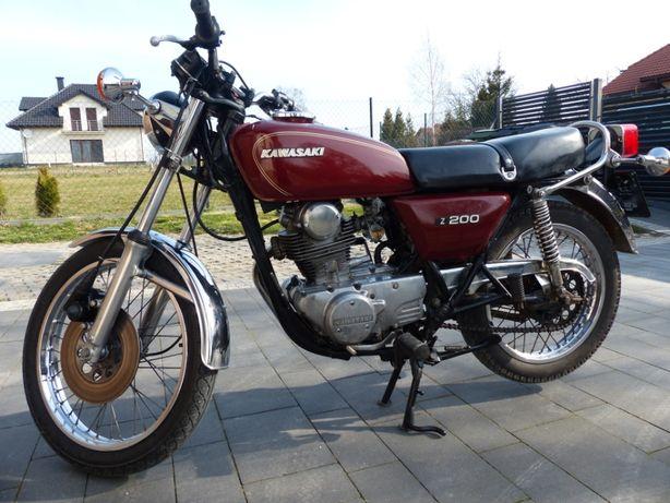 Kawasaki Z200 KZ200 oryginał 1977 zabytek