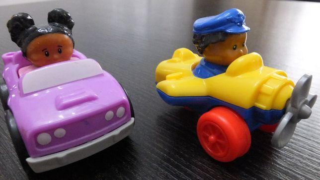 супер игрушки самолет с пилотом девочка в авто Fisher Price Mattel США