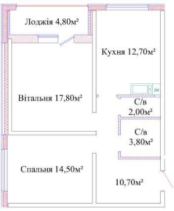 """СУПЕР ВИДОВАЯ. ЖК""""Альтаир-3"""", на Таирова! 63кв! Лоджия! Выгодно!"""