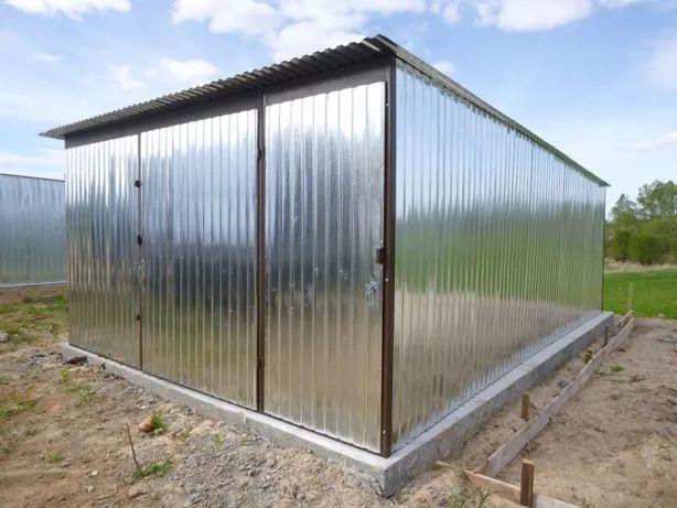 Garaż Blaszak Schowek na budowę Garaż blaszany Budowa Garaże PRODUCENT