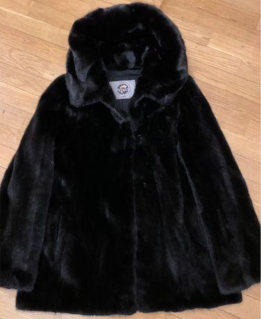 Куртка норковая  с капюшоном, р S
